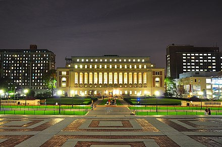 Columbia University, established by the Church of England. Butler Library - 1000px - AC.jpg