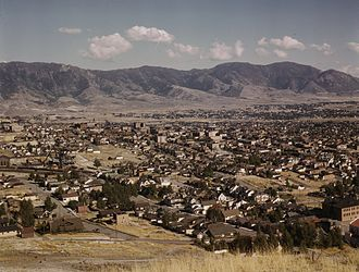 Butte, Montana - 1942 view of the city