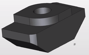 T-slot nut - Image: CAD model of a T Nut 2