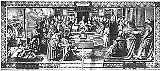 First Council of Nicaea - A fresco depicting the First Council of Nicaea.