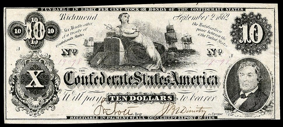 CSA-T46-$10-1861 (1862 in error)