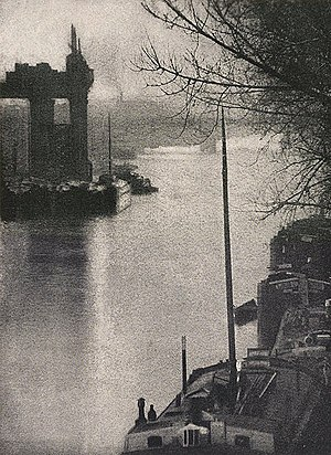 Robert Demachy - The Seine at Clichy - Published in Camera Work, No 16, October 1906