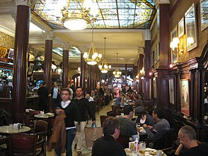 Café Tortoni - View of the interior.
