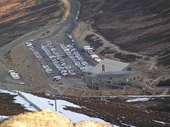 Cairngorm Mountain base station in June 2008