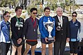 Caleb Noble (Third place), Matthew Ho (Second place), James Davy (First place) and the Mayor for the City of Wagga Wagga, Kerry Pascoe.jpg