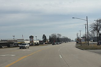 Caledonia, Wisconsin - WIS 32 in Caledonia at 4 Mile Road