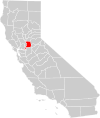 California county map (Sacramento County highlighted).svg