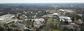 Calvin College - Aerial view of Calvin's campus