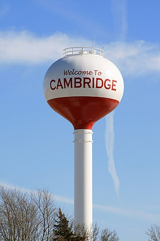 Cambridge, Iowa - Water tower located in the city