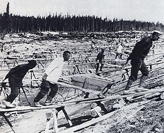 Gulag - The White Sea–Baltic Canal was the first major project constructed in the Soviet Union using forced labor.