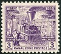 Canal Zone, Locomotive, 3c, 1955 Issue.jpg
