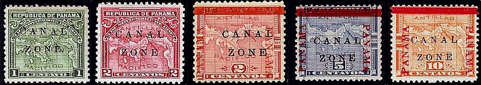 Canal Zone stamps, third series of 1904.jpg