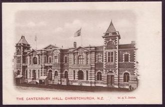 Civic, Christchurch - Canterbury Hall prior to burning down in 1917