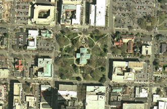 Capitol Area Historic District - Capitol satellite view, August 2006