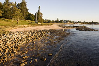 Silver Beach (Kurnell) - Image: Captain Cooks Landing Place Park panoramio (2)