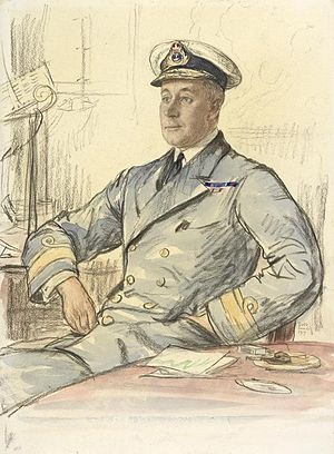 Hubert Brand - 1917 portrait by Francis Dodd