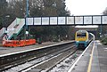 Cardiff Train arriving at Church Stretton Station - geograph.org.uk - 2268083.jpg