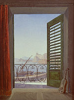 Carl Gustav Carus - Balkon in Neapel - Google Art Project.jpg