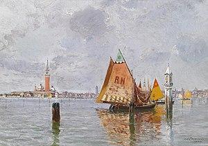 Carlo Brancaccio - Image: Carlo Brancaccio Fischerboote in der Lagune von Venedig