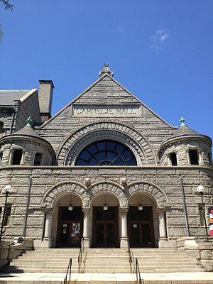 New Hazlett Theater - Image: Carnegie Hall Allegheny
