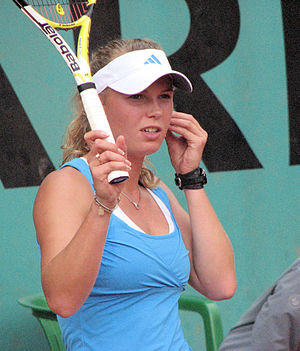 Caroline Wozniacki at the French Open (2009)