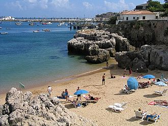 Cascais - Praia da Rainha, a beach in the centre of Cascais.