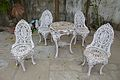 Cast Iron Table And Chairs - House Of Jagat Seth - Mahimapur - Murshidabad 2017-03-28 6141.JPG