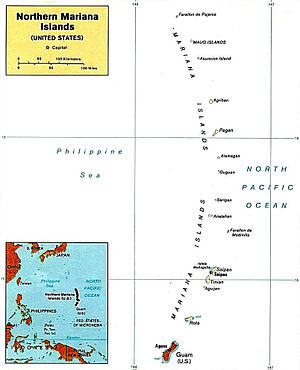 Mariana Islands, an oceanic island arc