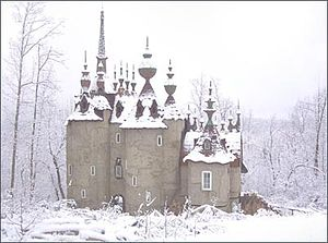 Castle Mont Rouge - Castle Mont Rouge, built in 2005 by Robert Mihaly in Rougemont, North Carolina