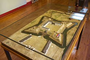 Fort de Goede Hoop - A model of the fort as it would have appeared in the 1650s.