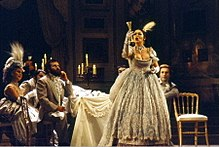 Catherine Malfitano as Violetta in La traviata at Opéra National du Rhin, Strasbourg in 1980
