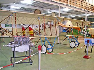 """Caudron G.3 - Caudron G.3 replica in """"Museo del Aire"""", Madrid."""