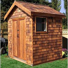 Example Of Wood Storage Shed From Us Cedar Builder