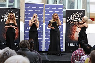 Celtic Woman - Image: Celtic Woman performs at Macquarie Shopping Centre, Sydney