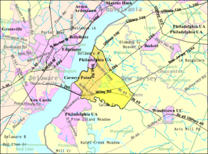 Carneys Point Township, New Jersey - Image: Census Bureau map of Carneys Point Township, New Jersey
