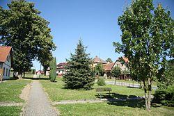 Center of Březí nad Oslavou, Žďár nad Sázavou District.jpg