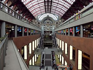 Antwerpen-Centraal railway station - The different levels