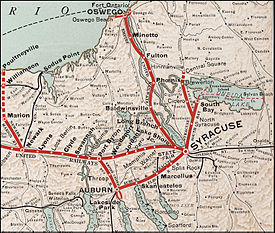 Interurban and streetcar railways in Syracuse New York