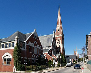Central Congregational Church (Fall River, Massachusetts) - Image: Central cong Fall River