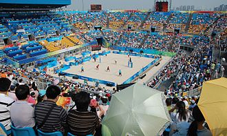 Chaoyang Park Beach Volleyball Ground - The playing area of the Beach Volleyball Ground