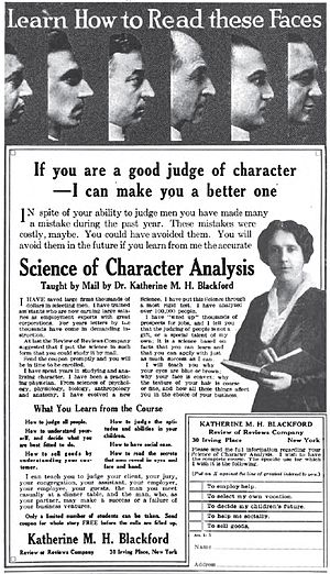 Moral character - 1915 magazine ad