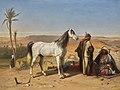 Charles-Philogène Tschaggeny - An Arabian in the desert.jpg
