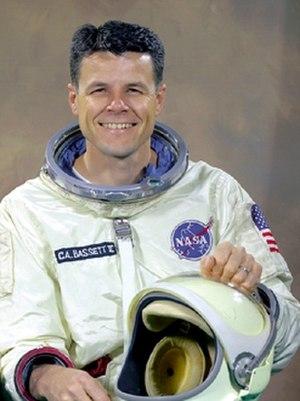 Charles Bassett - Bassett in a Gemini pressure suit