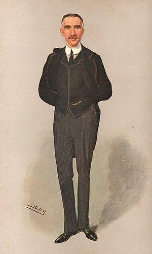 "Charles Tilston Bright - ""Submarine Telegraphs"", caricature by Spy in Vanity Fair, 1908."