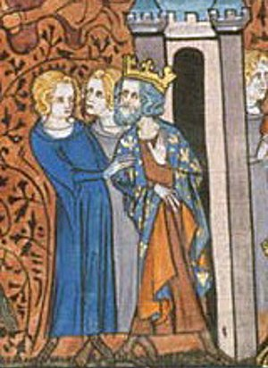 Charles the Simple - 14th century depiction of the imprisonment of Charles III