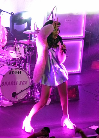 Charli XCX - Charli XCX performing in Detroit in 2014.