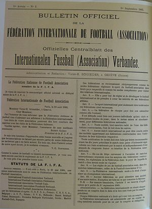 History of FIFA - Charter FIFA (1 September 1905) original screen