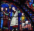 Chartres - Vitrail de l'Histoire de saint Jacques le Majeur - Fourreurs.JPG