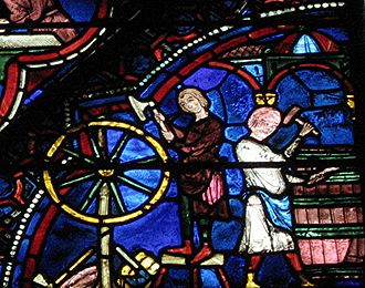 """Chartres - The famous """"Chartres blue""""."""