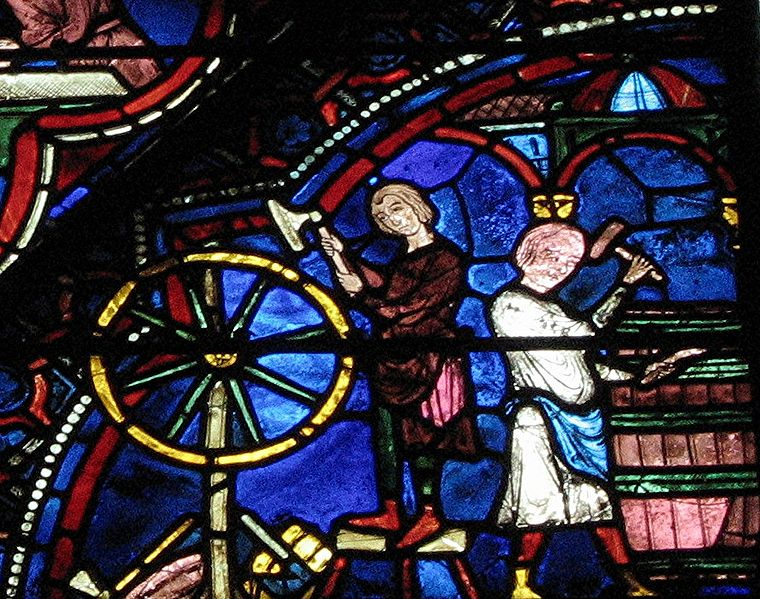 Stained glass panel in the Cathedral of Chartres
